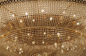 The golden color ceiling lamp — Stock Photo