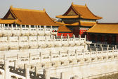 Hall of TiRen in the Forbidden City, Beijing China. — Stock fotografie