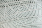 Vault airport waitng hall ceiling — Stock Photo