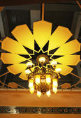 The malay styled pendant light inside a local house — Stok fotoğraf