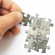 Hands with two puzzles — Stock Photo #27823687