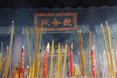 Incense Sticks Burning in Chinese Temple — Stock Photo