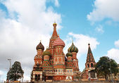 Cathedral St. Basil's on Red square, Moscow — Stock Photo