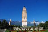 Tři buddhistických pagod — Stock fotografie