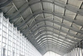 The steel and glass structure ceiling. — Stock Photo
