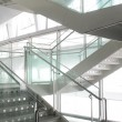 图库照片: Open stairwell in modern office building