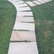 Curving flagstone footpath — Stock Photo