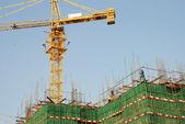 высокий рост, строящееся здание. — Стоковое фото