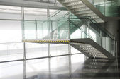 Open stairwell in a modern office building — Stock Photo