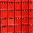 Stock Photo: Plastic crates background