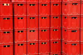 Plastic crates background — Foto Stock