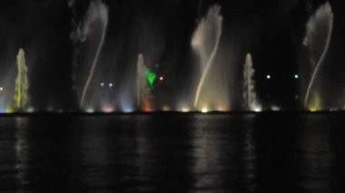 Fountain at night — Wideo stockowe