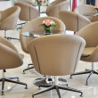 The swivel chairs in reception room — Stock Photo