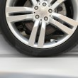 Car Wheel on Car — Stock Photo