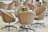 The swivel chairs in reception room — Stockfoto