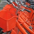 Bikes parked — Stock Photo