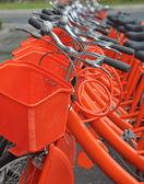 Bikes parked — Stock Photo