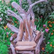 Wooden Throne — Stock Photo