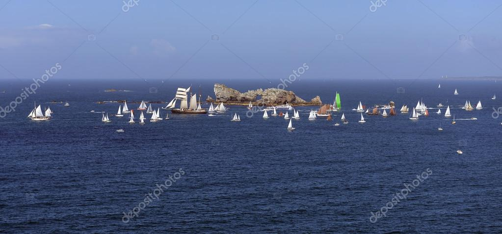 Parade of tall ships in the north of France. Brest  Stock Photo #12271846