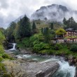 Swiss village in the mountains — Stock Photo #14010360