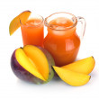 Stock Photo: Mango juice and fruit