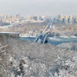 Winter panorama of Kiev and the Dnieper River - Stock Photo