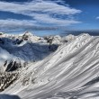 Winter panorama of the Alps - Stock Photo
