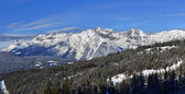 Winter panorama of the Alps — Stock Photo