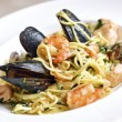Fresh pasta with seafood — Stock Photo #26348223