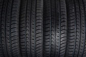 Four new tires texture — Stockfoto