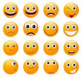 Conjunto de sonrisas. — Vector de stock