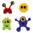 Set of monsters - Stock Vector
