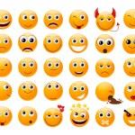 Set of orange smiles — Stock Vector #14347457