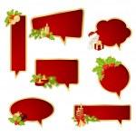 Christmas bubbles speech — Stock Vector