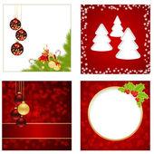 Рождественские открытки — Cтоковый вектор