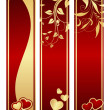 Three valentine - Stock Vector
