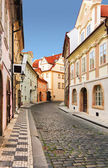 Prague street, czech republic. — Stock Photo