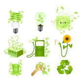 Ecoset — Stock Vector