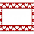Royalty-Free Stock Vector Image: Frame of hearts