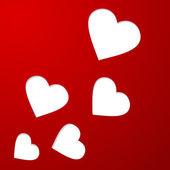 Papier serca — Wektor stockowy