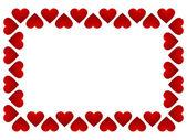 Cadre de cœurs — Vecteur