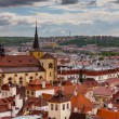 Stock Photo: A photo of the brick rooftoops of old Prague.