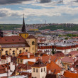 A photo of the brick rooftoops of old Prague. — Stock Photo