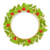 Christmas wreath — Stok Vektör