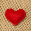 Felt heart — Stock Photo
