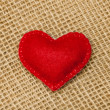 Stock Photo: Felt heart