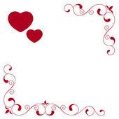 De Valentijnskaart — Stockvector