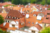 Red roofs of Prague, Czech Republic — Foto de Stock