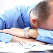 Stress. Businessman in the office — Stock Photo #12807013