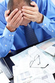Stress. Businessman in the office — Stock Photo